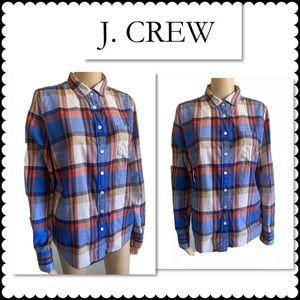 J. Crew Perfect Fit Button Down Medium Plaid
